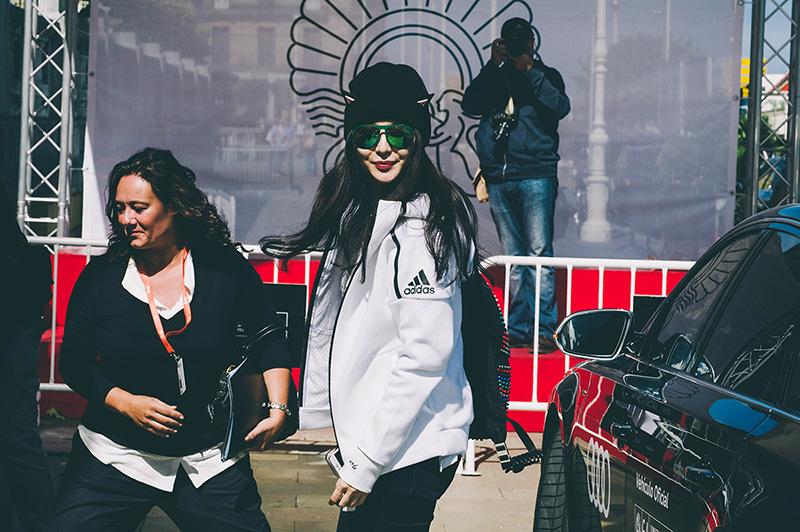 Bingbing Fan a su llegada al María Cristina durante el Zinemaldi de 2016. // Foto: Santiago Farizano
