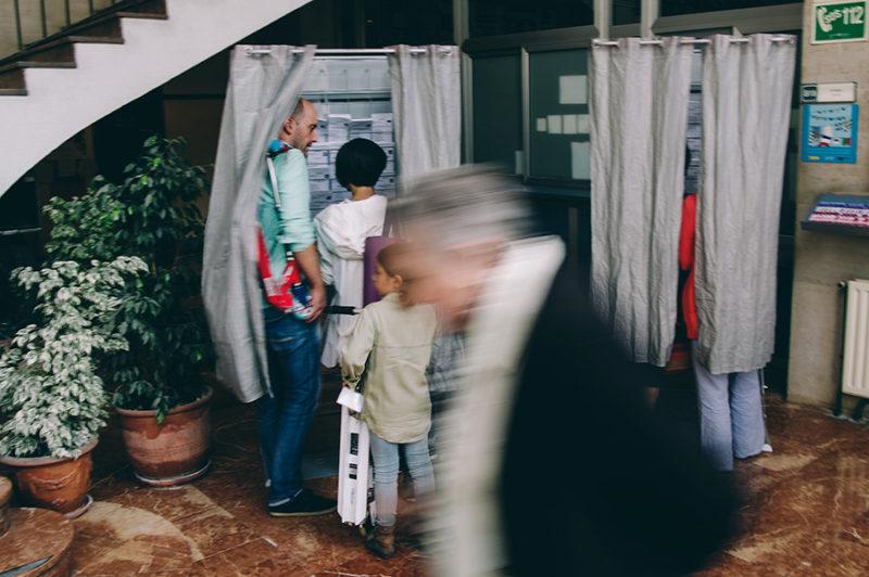 Jornada electoral en Donosti. Foto: Santiago Farizano