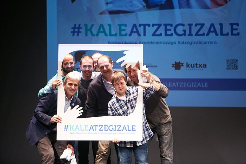 Atzegi reconoció durante la presentación de su nueva campaña la colaboración de la Real Sociedad. Foto: Real Sociedad