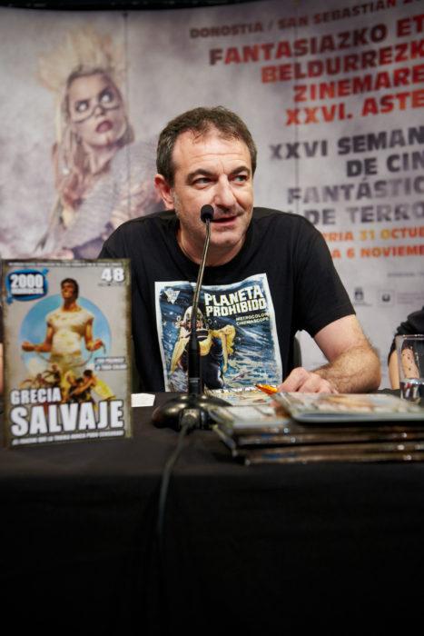 Manuel Valencia, del fanzine 2000maníacos. Foto: Donosti Kultura.