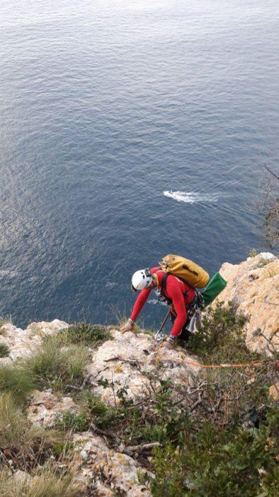 Imagen del rescate de hoy en Elantxobe. Foto: Sos Deiak.