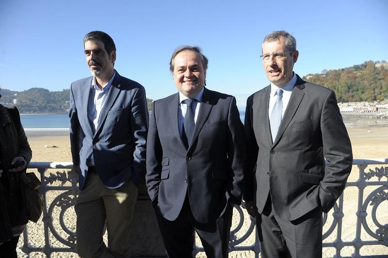 Eneko Goia, Jokin Aperribay y Markel Olano. Foto: Pedro Martínez