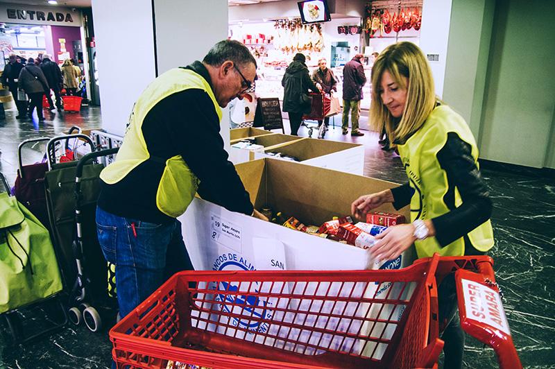 Imagen del Banco de Alimentos el pasado noviembre. Foto: Santiago Farizano