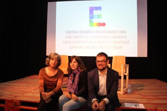 Presentación del próximo foro con presencia de la UNESCO en Donostia. Foto: 2016