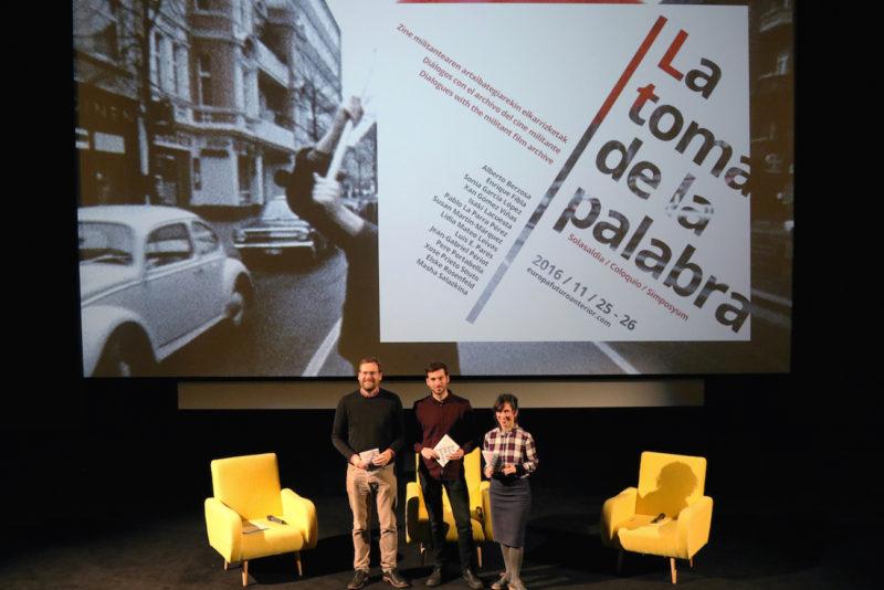 Presentación de La toma de la palabra. Foto: Donostia2016