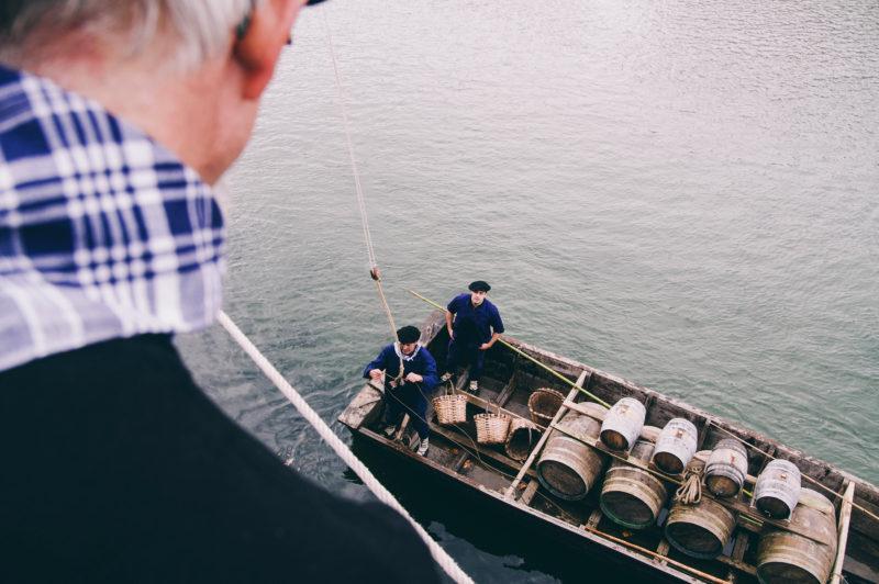 La llegada de la sidra a Donostia el pasado año. Foto: Santiago Farizano