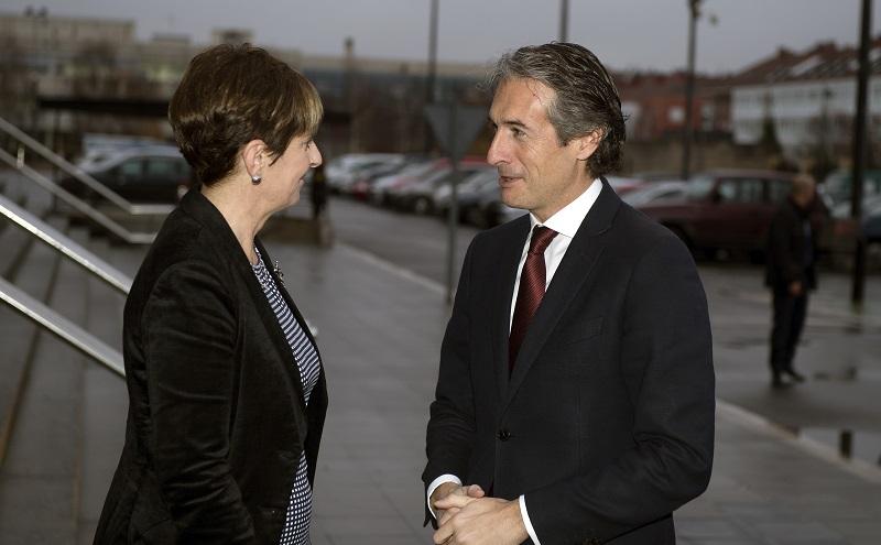 Tapia e Iñigo de la Serna. Foto: Gobierno vasco