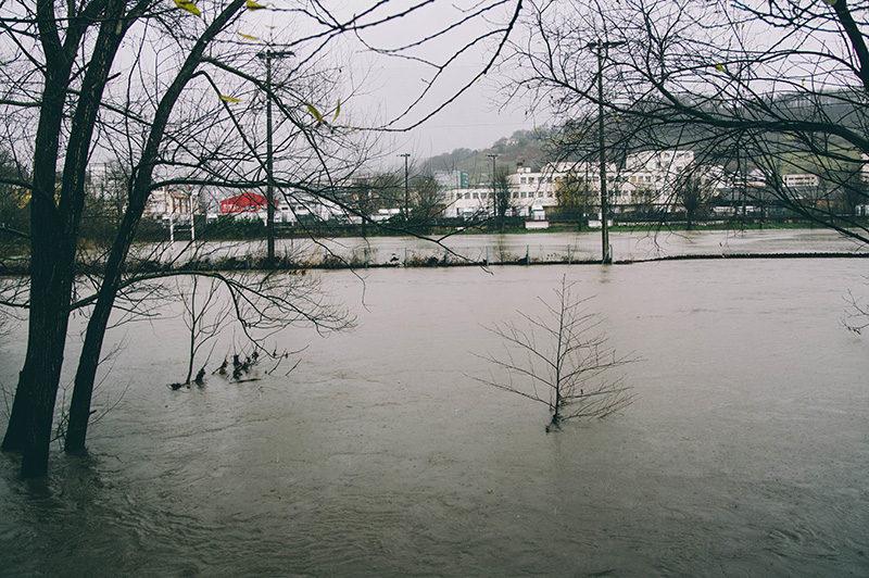 IMG4471 800 El agua desborda en algunos puntos las cuencas de los ríos Urumea, Oria y Urola