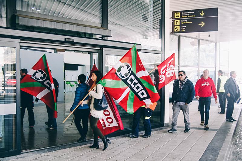 Protesta de los empleados el pasado 3 de noviembre en el aeropuerto. Foto: Santiago Farizano