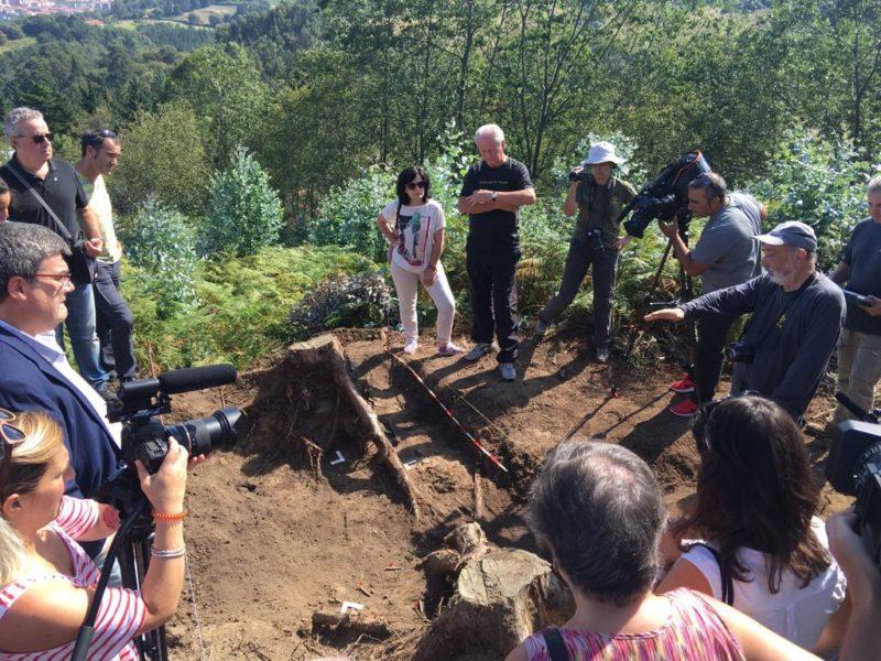 Imagen de la exhumación del monte Artxanda el pasado septiembre. Foto: Gobierno vasco.