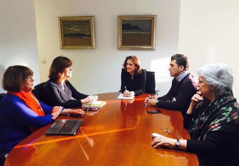 Reunión entre Artolazabal y miembros de la Fundación Matía. Foto: Diputación