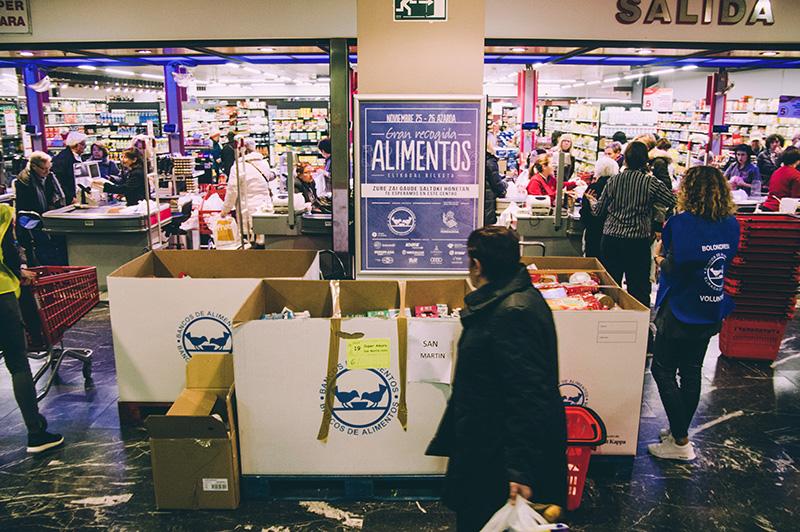 Recogida de alimentos el pasado noviembre. Foto: Santiago Farizano