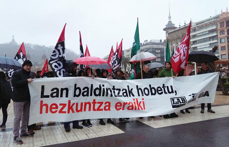 Concentración del 7 de marzo convocando la serie de protestas del último trimestre. Foto: A.E.
