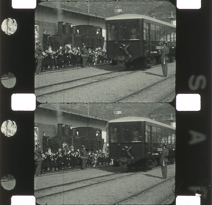 Fotogramas de una de las filmaciones que se proyectarán en el Museo Vasco del Ferrocarril