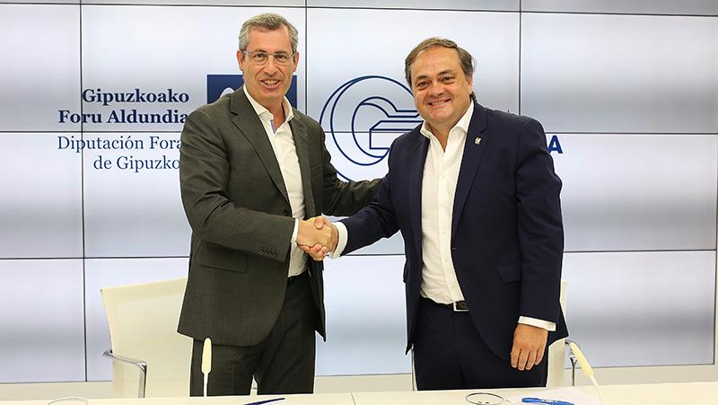 Rueda de prensa de Jokin Aperribay y Markel Olano. Foto: Real Sociedad
