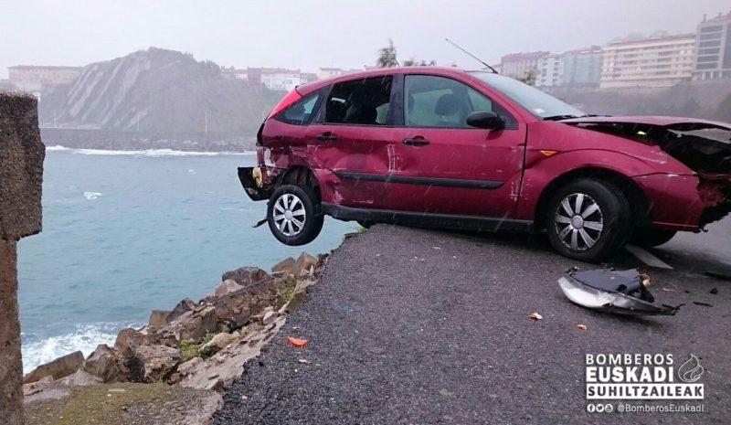 Accidente el 24 de julio en Getaria. Foto: Bomberos de Euskadi