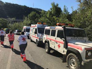 Tolosa3 Cruz Roja 300x225 - Un centenar de afectados tras el escape tóxico en una piscina de Tolosa