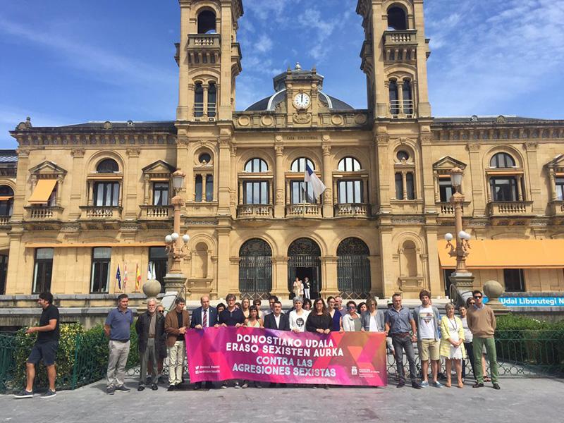 Reciente protesta por el intento de violación del día 22. Foto: Socialistas Donostia