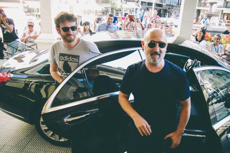 Gorka Otxoa y Javier Cámara. Foto: Santiago Farizano