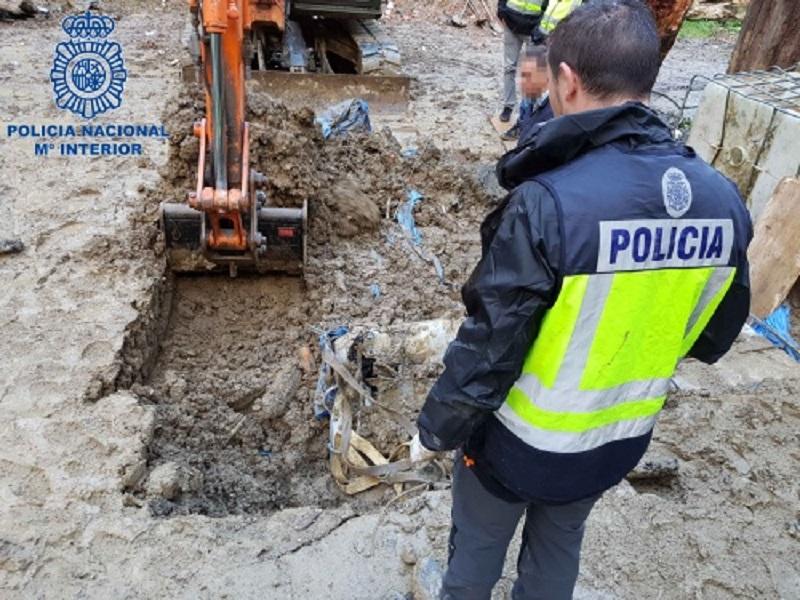 Alijo intervenido por la Policía Nacional en Zarautz el pasado noviembre. Foto: Policía Nacional