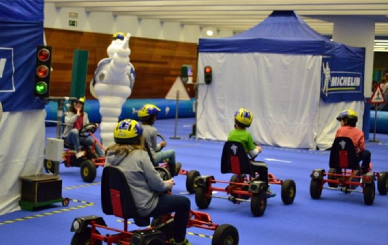 Parque Infantil del pasado año (PIN) en el Kursaal.