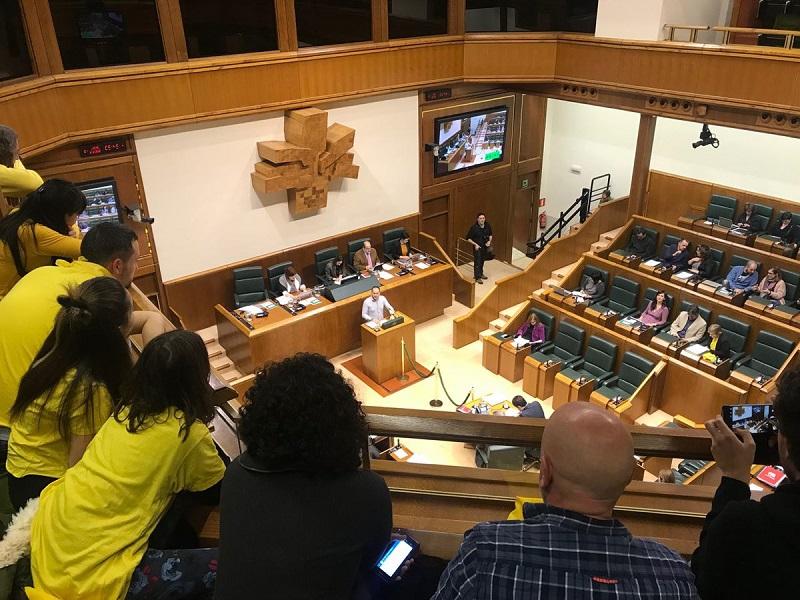 Imagen del Parlamento Vasco. Foto: Ezker Anitza Donostia