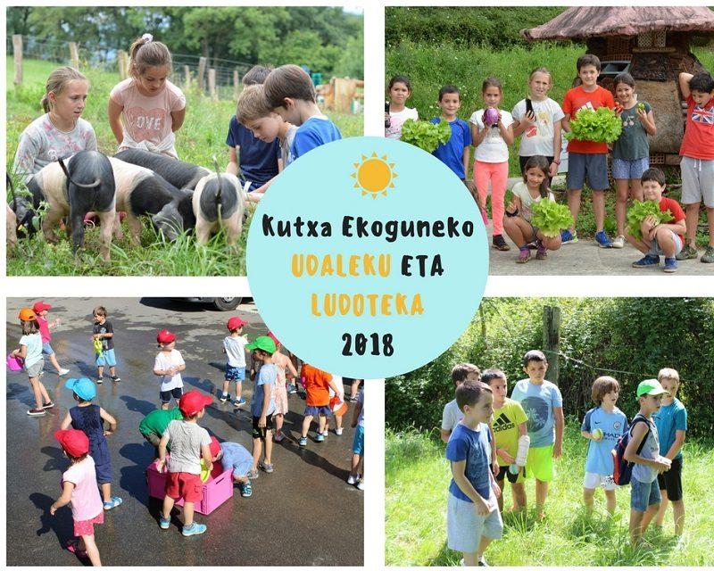 Ekogunea Abierta la inscripción para la ludoteca y las colonias de verano de Kutxa Ekogunea