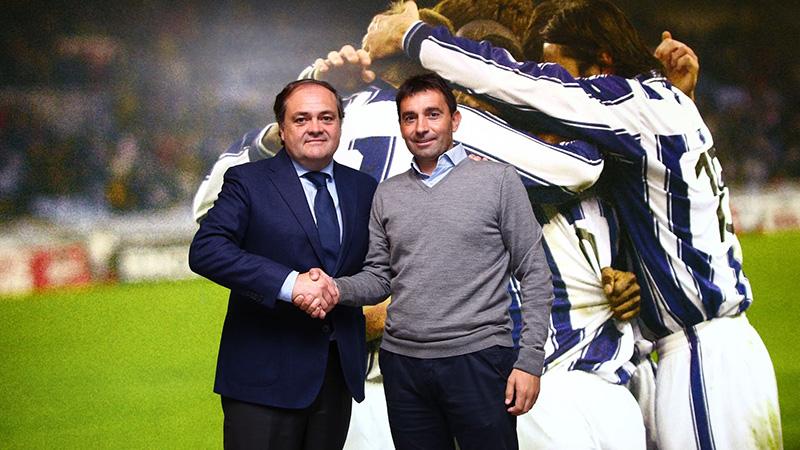 Aperribay y Garitano. Foto: Real Sociedad