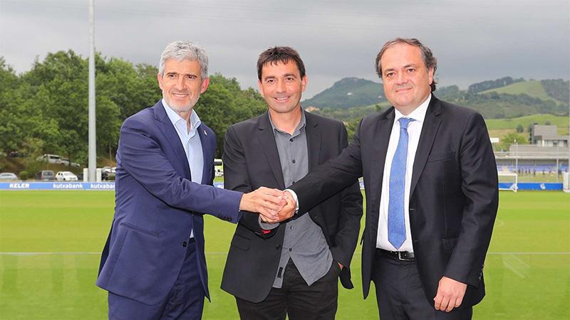 Olabe, Garitano y Aperribay. Foto: Real Sociedad