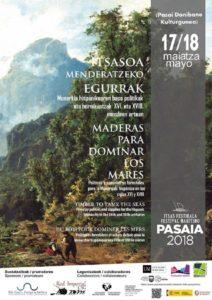 madera cartel 212x300 - El Festival Marítimo de Pasaia suma el congreso 'Maderas para dominar los mares'