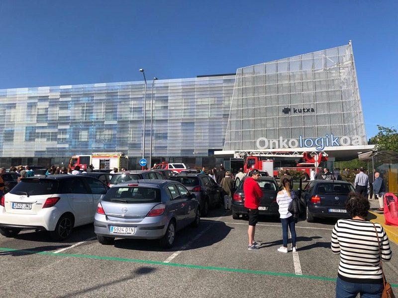 onkologikoa Pequeño incendio en el Hospital Onkologikoa