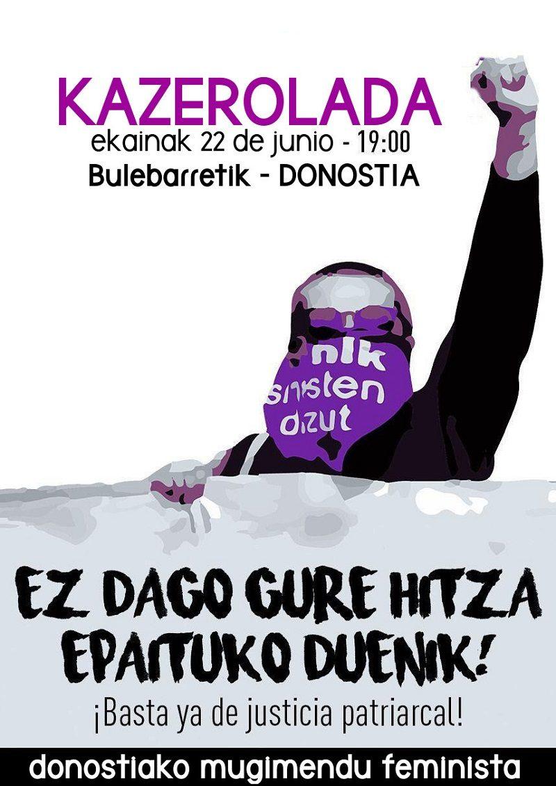 kazerolada22 La Manada: Convocan una nueva protesta en el Boulevard a las 19
