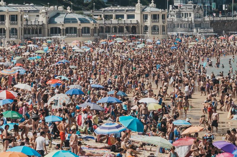 Imagen de la playa de la Concha en 2018. Foto: Santiago Farizano