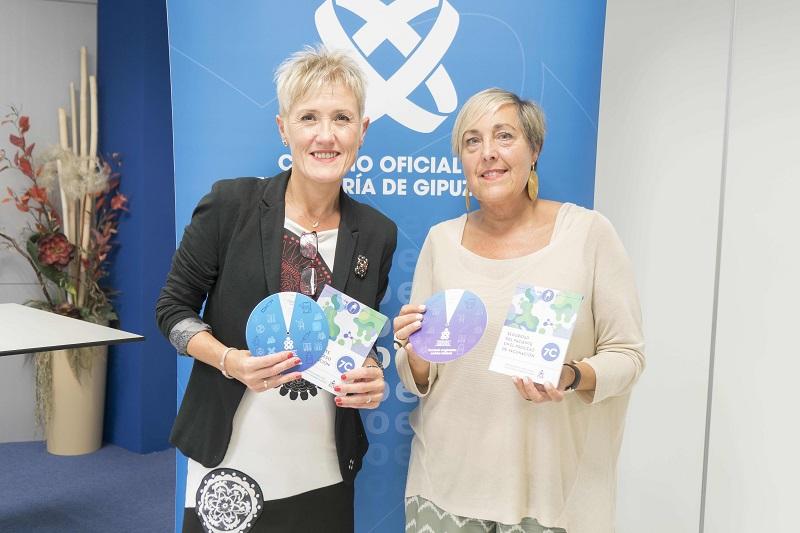 Pilar Lecuona, presidenta del COEGI, y Rosa Sancho, vocal de la Comisión de Vacunación del COEGI.