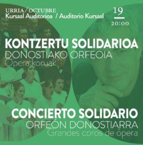 """concierto solidario opera """"Hay que llenar el Kursaal este viernes. Hay que demostrar que queremos ópera en Donostia"""""""