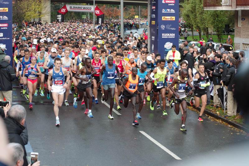 Maratón de San Sebastián de 2018. Foto: Santiago Farizano