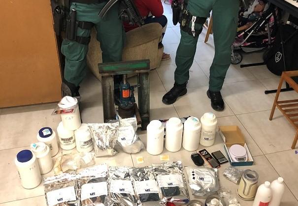 Parte de lo incautado en la 'Operación Reggaeton'. Foto: Delegación del Gobierno.