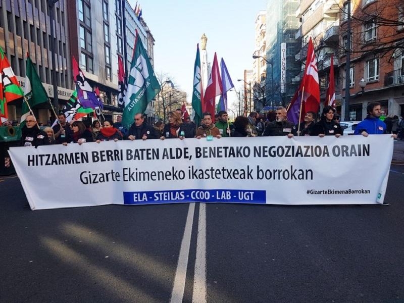 Manifestación de la enseñanza concertada en Bilbao. Foto: ELA sindikatua