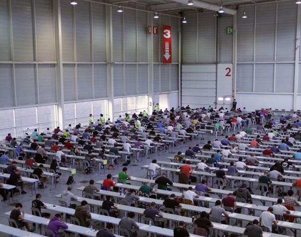Imagen de archivo de pruebas en Ficoba. Foto: Diputación de Gipuzkoa