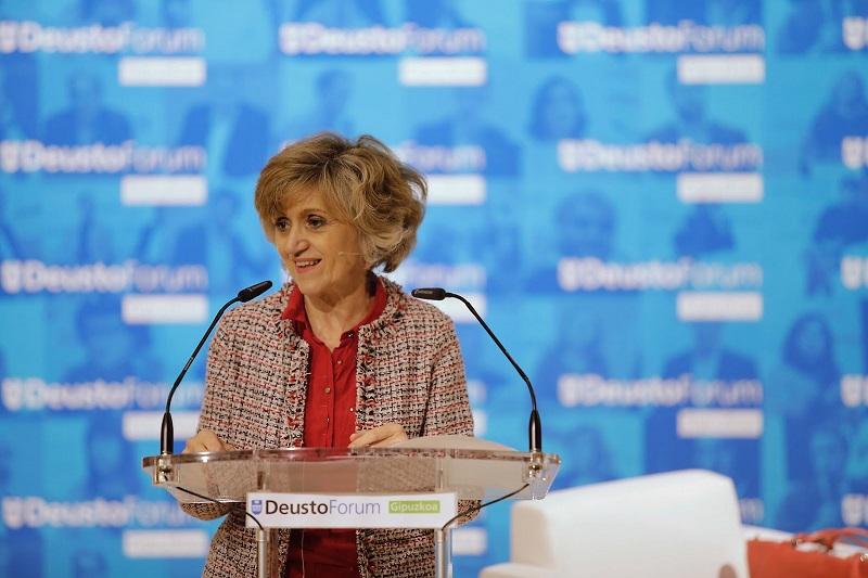 Mª Luisa Carcedo, hoy en Deusto Donostia.