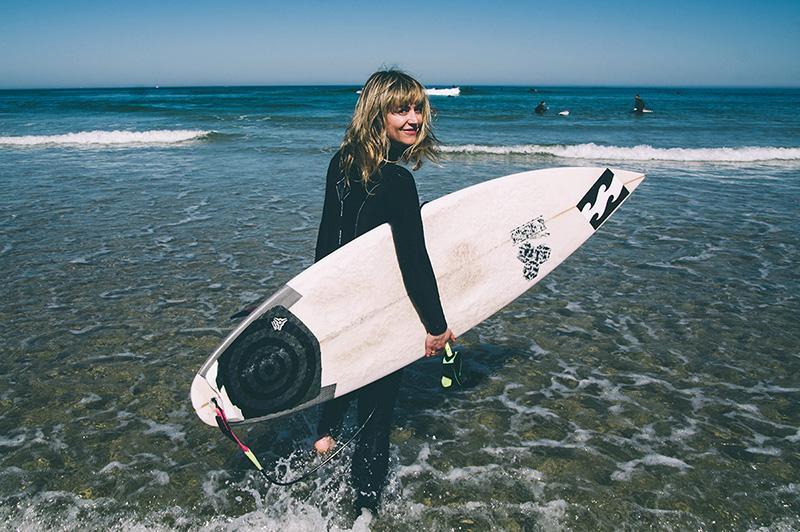 Maialen Sáez, presidenta de la Federación Gipuzkoana de Surf. Foto: Santiago Farizano.