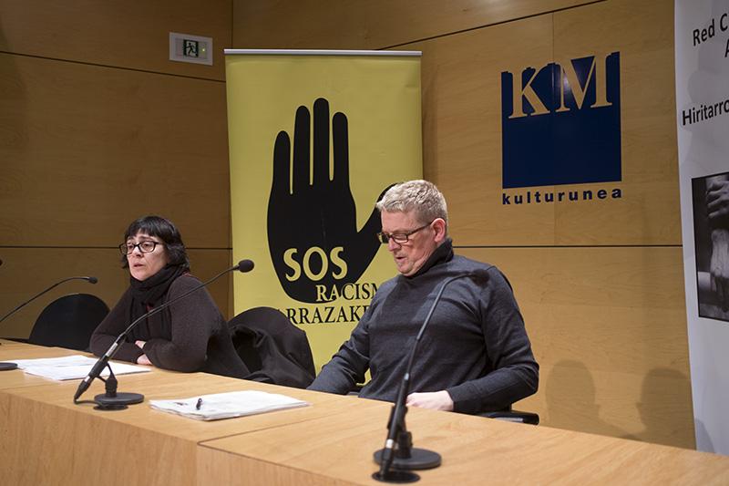 Rueda de prensa de la Red Ciudadana de Acogida y Sos Racismo. Foto: Santiago Farizano