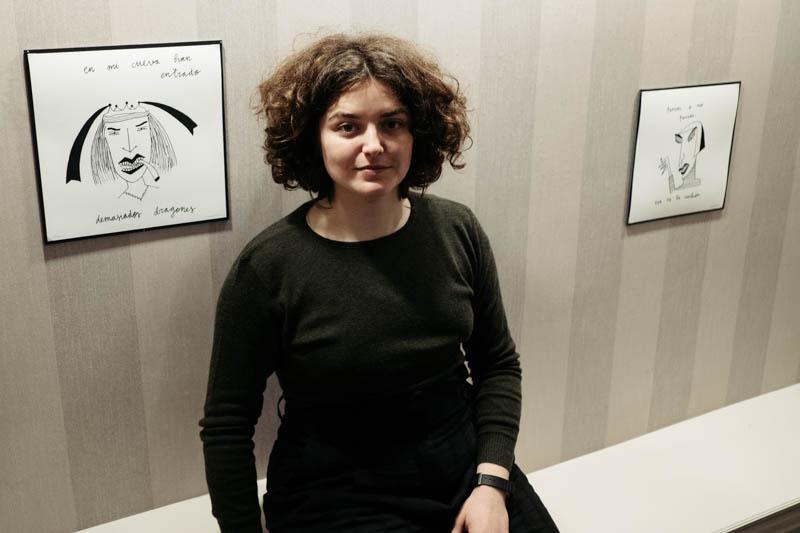 María Lafuente, Layayaletuca, autora de las ilustraciones. Fotos: Santiago Farizano