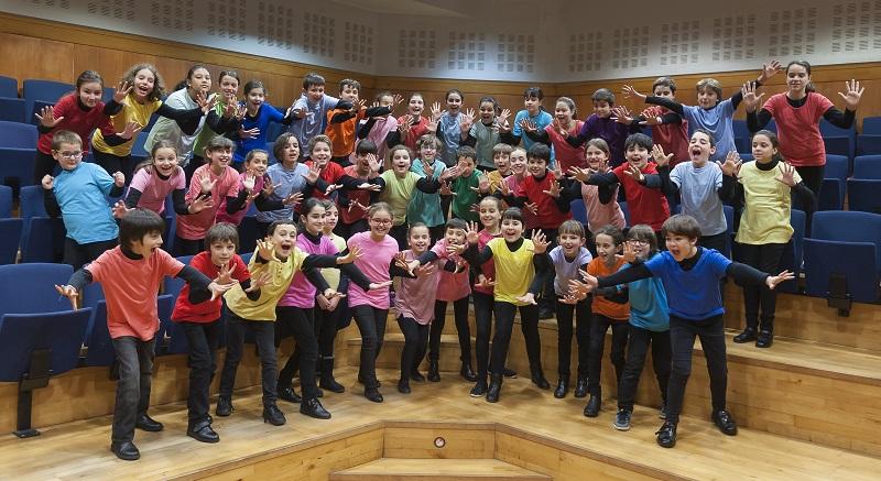Los Pequeños Cantores del Orfeón. Foto: Donostia Kultura.