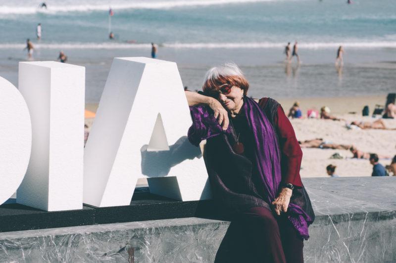 Agnès Varda en Donostia hace dos años. Foto: Santiago Farizano