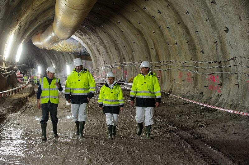 Visita oficial ayer a las obras del metro. Foto: Gobierno vasco