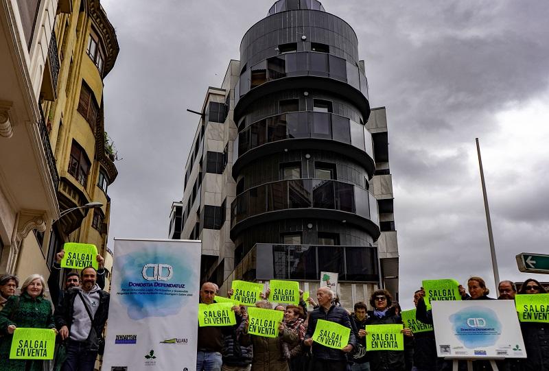 Protesta de Donostia Defendatuz. Foto: Donostia Defendatuz.