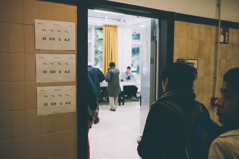 Elecciones generales en Donostia. Foto: Santiago Farizano