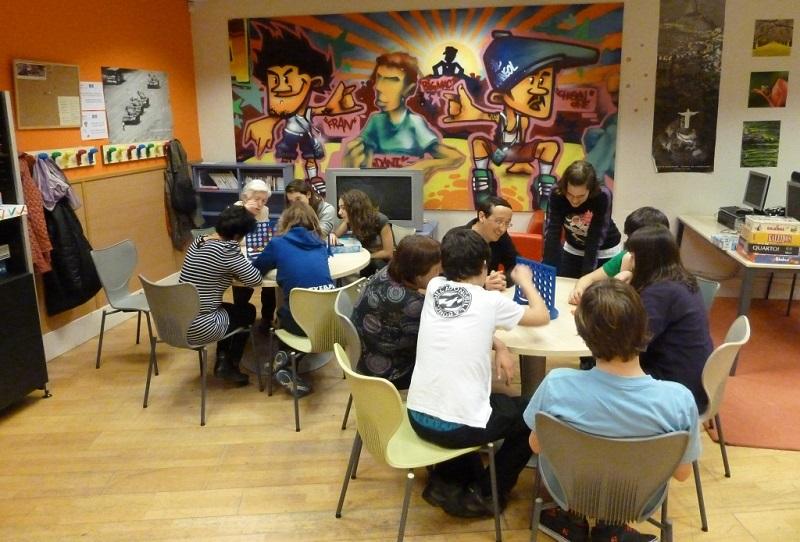 Actividad en el Gazteleku de Gros. Foto: Ayto.