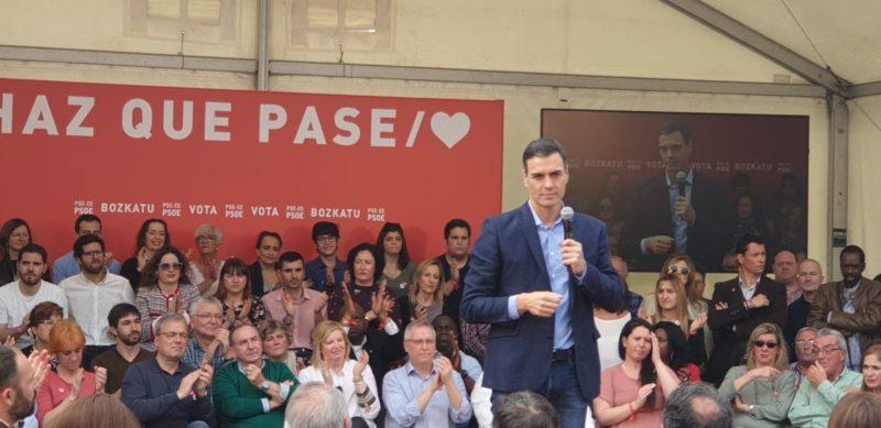 Pedro Sánchez en Donostia. Foto: PSE-EE